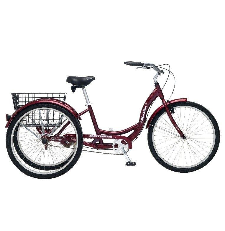 26 Schwinn Meridian Adult Tricycle Cherry Trike Ride Bicycle 3