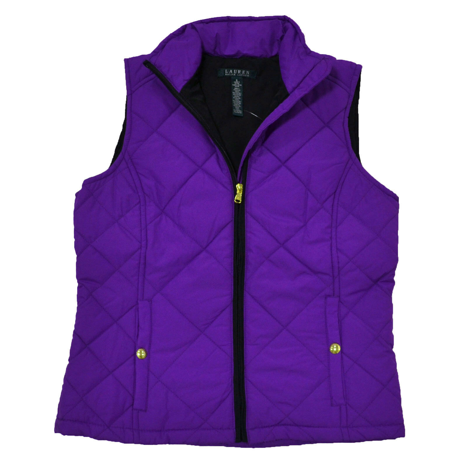 Ralph Lauren Womens Puffer Vest Full Zip Quilted Jacket LRL S ... : purple quilted jacket - Adamdwight.com