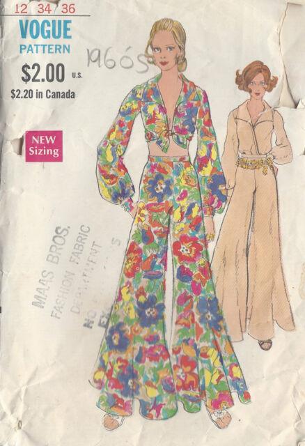 Vintage Nähvorlage B34 Bluse & Hosen (r822) Vogue 1960er | eBay