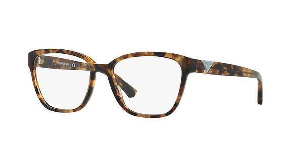 emporio armani ea 3094 5540 havana spot grey glasses eyeglasses frames size 52 - Emporio Armani Glasses Frames