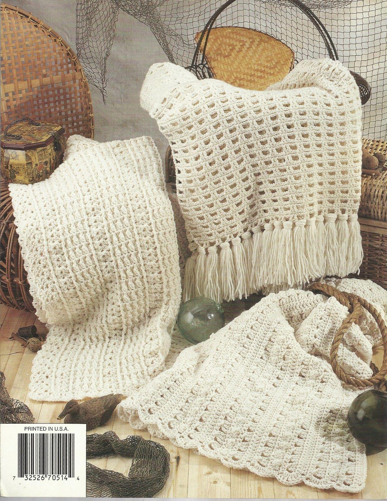 Aran Afghans 6 Crochet Patterns Annie\'s Attic 870514 | eBay