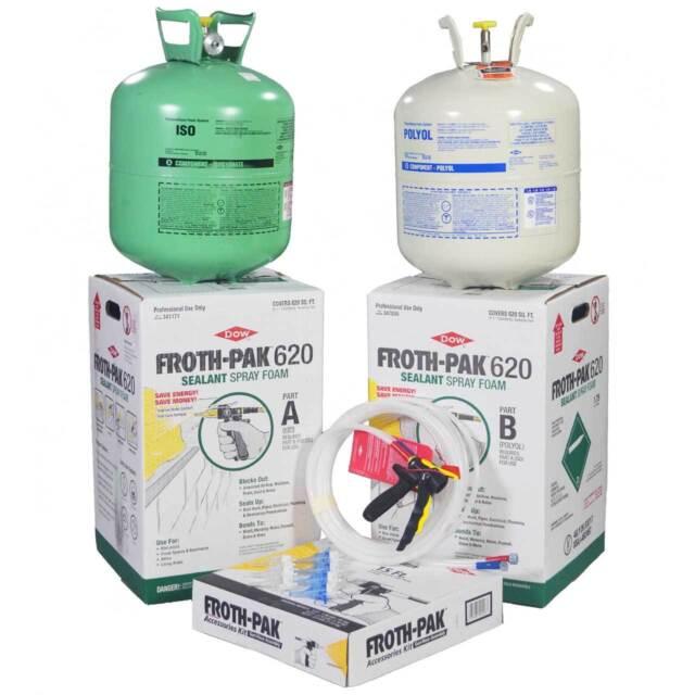 Spray foam insulation kit dow froth pak 620 620bf ebay spray foam insulation kit dow froth pak 620 620bf solutioingenieria Gallery