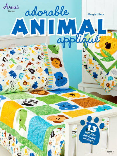 Adorable Animal Applique 13 Projects Annies Quilt Sewing Patterns
