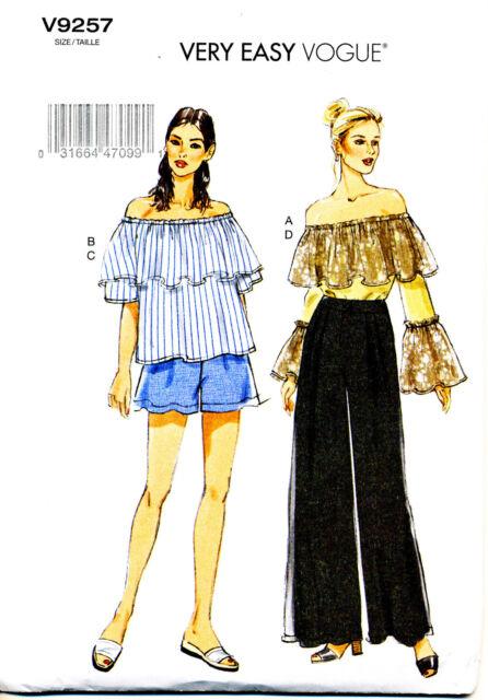Vogue Sewing Pattern 9257 Vintage Womens Clothing Ladie Miss Dress