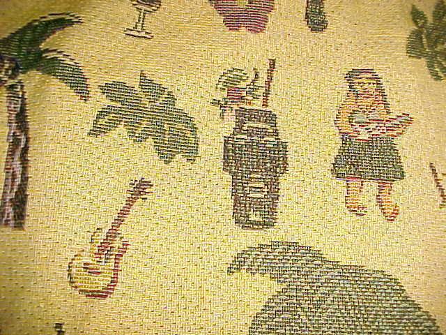 Bovano USA Company Hawaiian Theme Tiki Pineapple Palm Trees Guitars ...