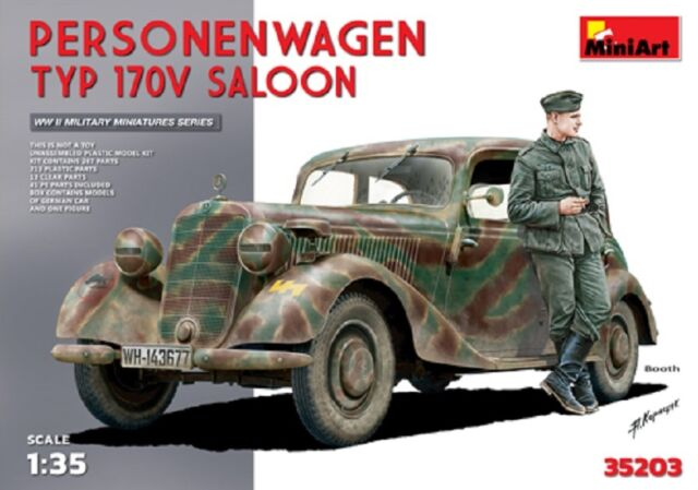 MINIART #35203 Personenwagen Typ 170V Saloon w/Figure in 1:35