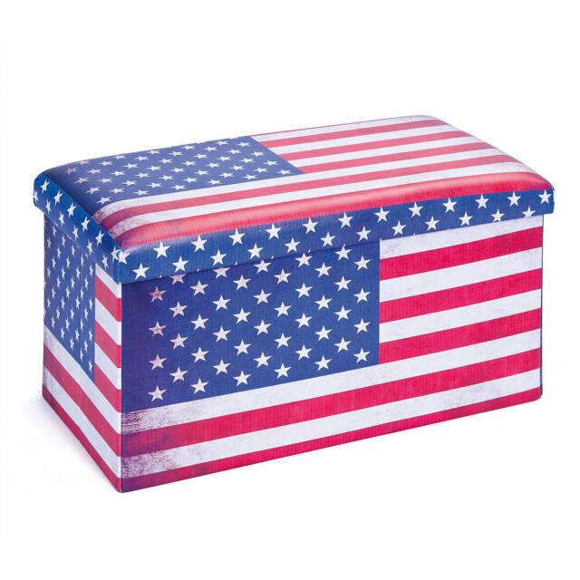 Faltbox US Flage mit Deckel 76 x 38 x 38cm