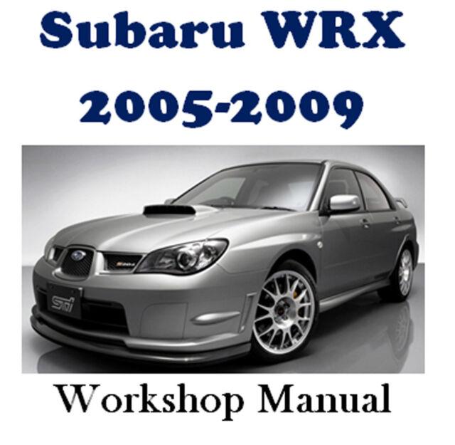 subaru impreza sti rs wrx 2005 car workshop manual repair manual service manual download