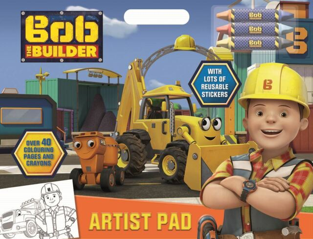 Colouring Pages Boy Girl : Bob the builder childrens boys girls artist pad colouring activity