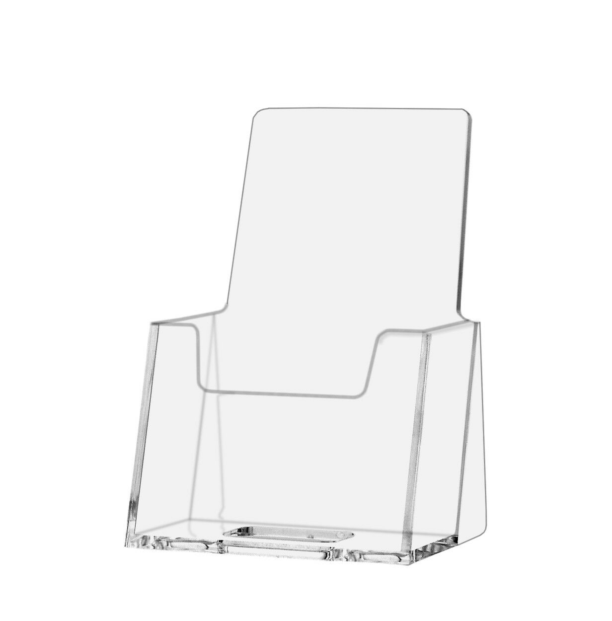 6) Acrylic Vertical Portrait Clear Business Card Holder Wholesale | eBay