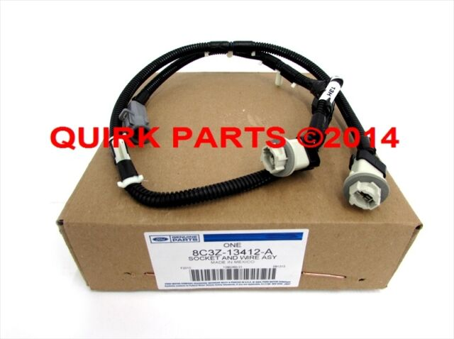 s l640 08 10 ford f250 f350 f450 550 license plate lamp light wiring license plate light wiring harness at bakdesigns.co
