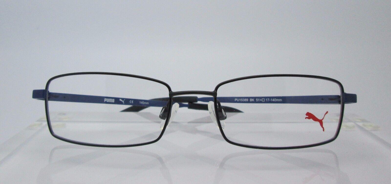 PUMA 15389 Black Eyeglass Frames Glasses Mens Womens   eBay