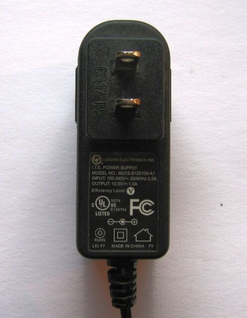 LEI Mu12-s120100-a1 AC Adapter Power Supply 12 Volt 1a ( ) Polarity ...