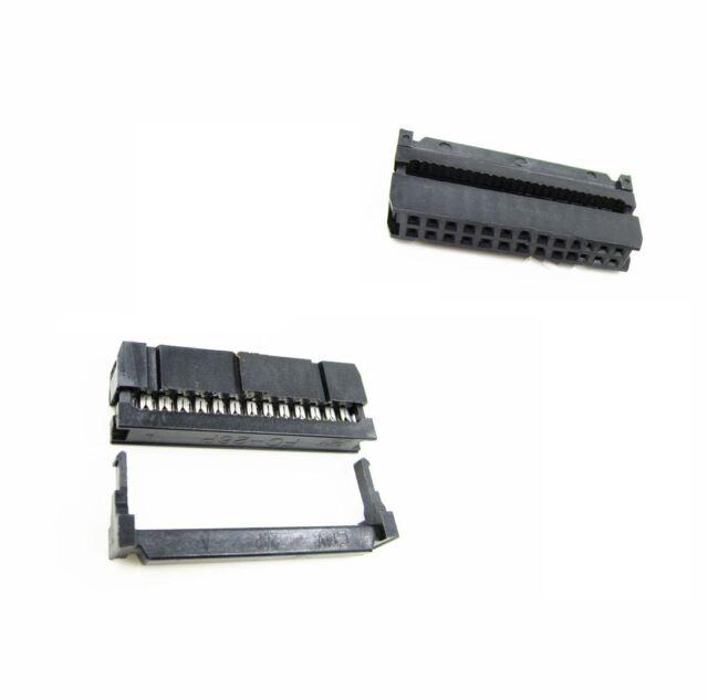 10PCS 26p Female IDC Plug Flat Ribbon Cable Connectors Black 2.54mm FC-26P