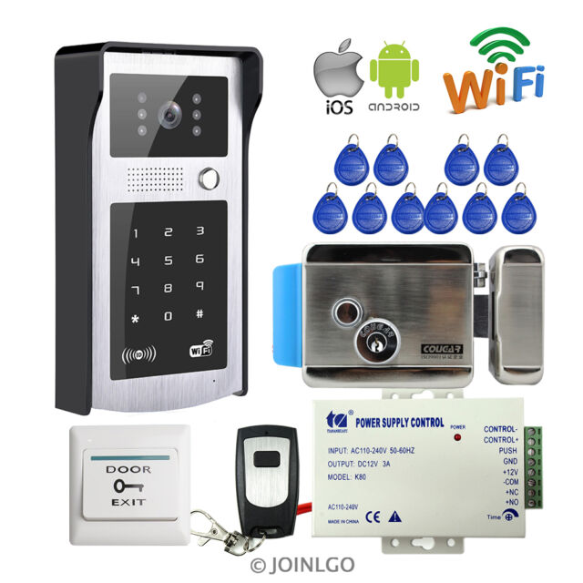 Wireless wifi keypad video intercom door phone waterproof for Front door video intercom