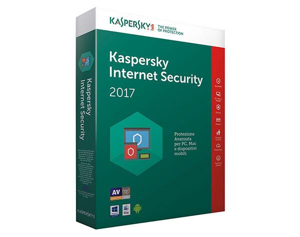 Kaspersky Internet Security 2018 Licenza 1 Anno x 1PC / Mac & Dispositivi Mobili