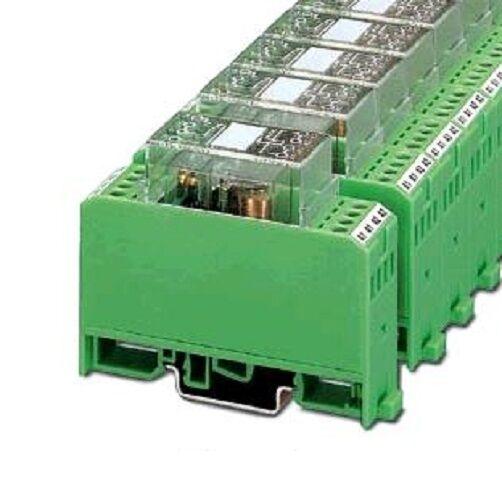 (1 Stk) Relais 2W  24V UC komplett Phönix Contact 2950323 // RELKSR242121