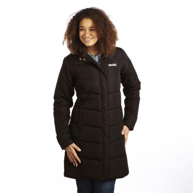 Regatta Ladies Blissful II Black Parka Jacket Insulated Season ...