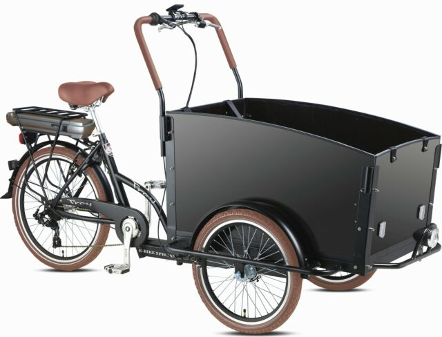 Electric Bakfiets E Troy Cargo Family Bike 6 Speed Shimano 4 Seats