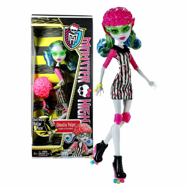 monster high skultimate roller maze ghoulia yelps roller derby fashion doll new - Ghoulia Yelps
