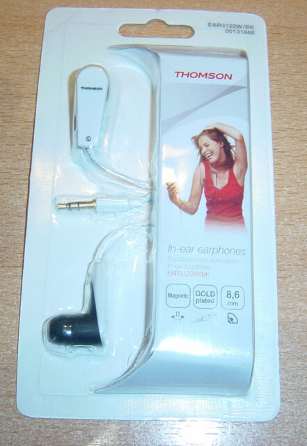 THOMSON EAR3122W/BK, IN EAR Kopfhörer,Magnetic,Weiss,NEU!