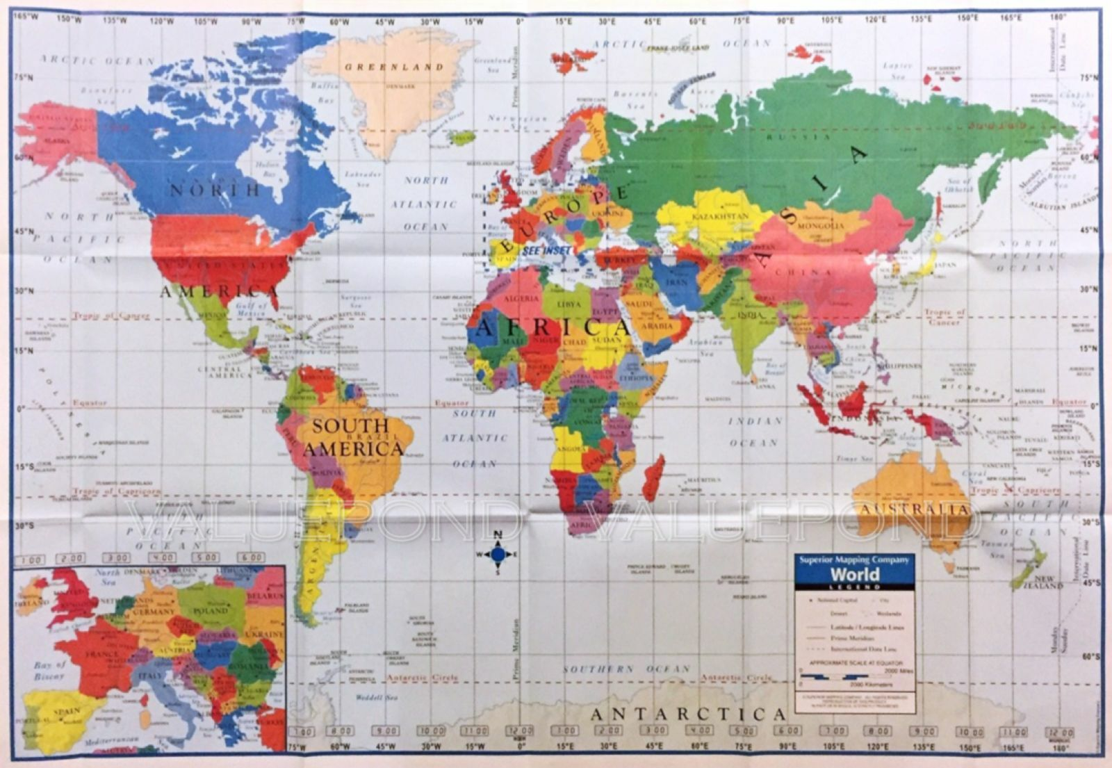World map ebay world map poster size wall decoration large map of the world 40 gumiabroncs Choice Image