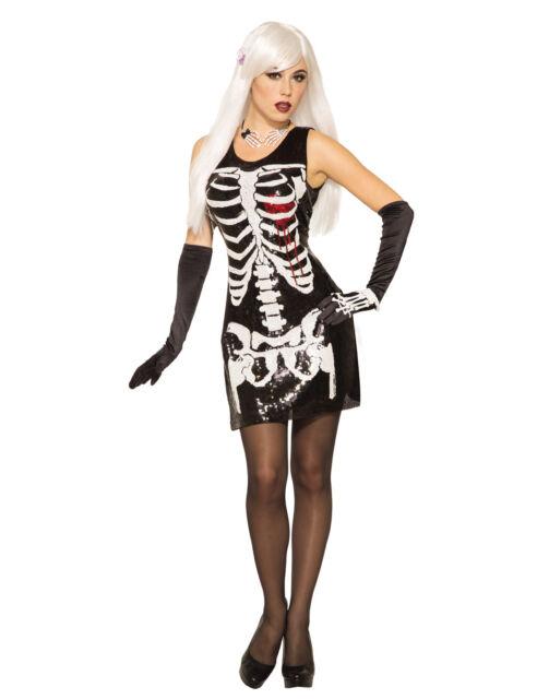 Skeleton Bleeding Heart Halloween Fancy Dress Costume Outfit ...