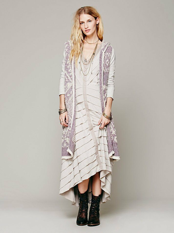 People White Moon Pattern Cardigan Hooded Sweater Coat Long Jacket ...