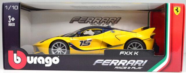 Ferrari FXX K jaune Maßstab 1:18 von Bburago