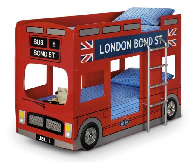 Julian Bowen Red England London Bus Bunk Bed Frame Single