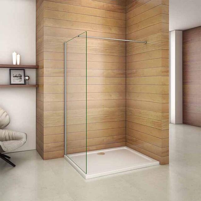 660x1950mm Wet Room Walk in Shower Enclosure Screen Panel 6mm ...
