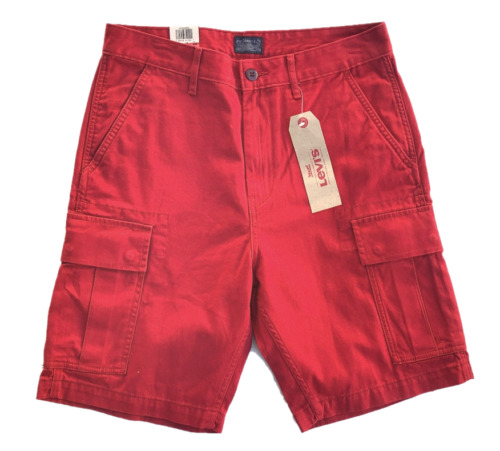 4ebd42a310 Levi's NEW MENS LEVIS RELAXED FIT ACE CARGO SHORTS ZIPPER FLY CAMO BLACK  BLUE GRAY RED