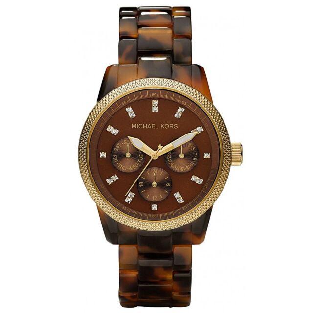 Michael Kors MK5038 Jet Set Chronograph Ritz Acrylic Tortoiseshell Wrist Watch