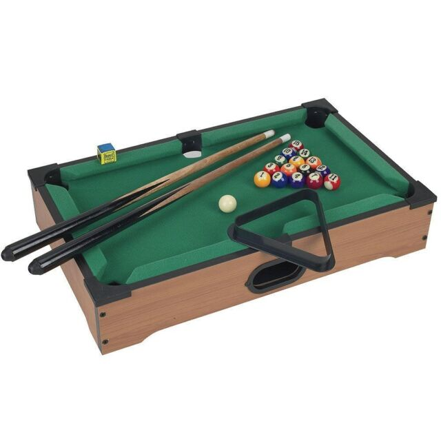 Mini Table Top Pool Table and Accessories 20 x 12 x 3.5 Inches Kids Games