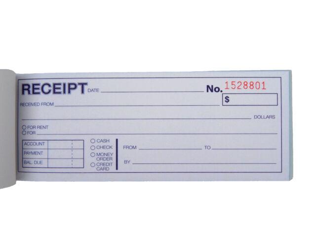 5x Cash Money Rent Receipt Record Book 2 Part 50 Sets Duplicate Copy ...