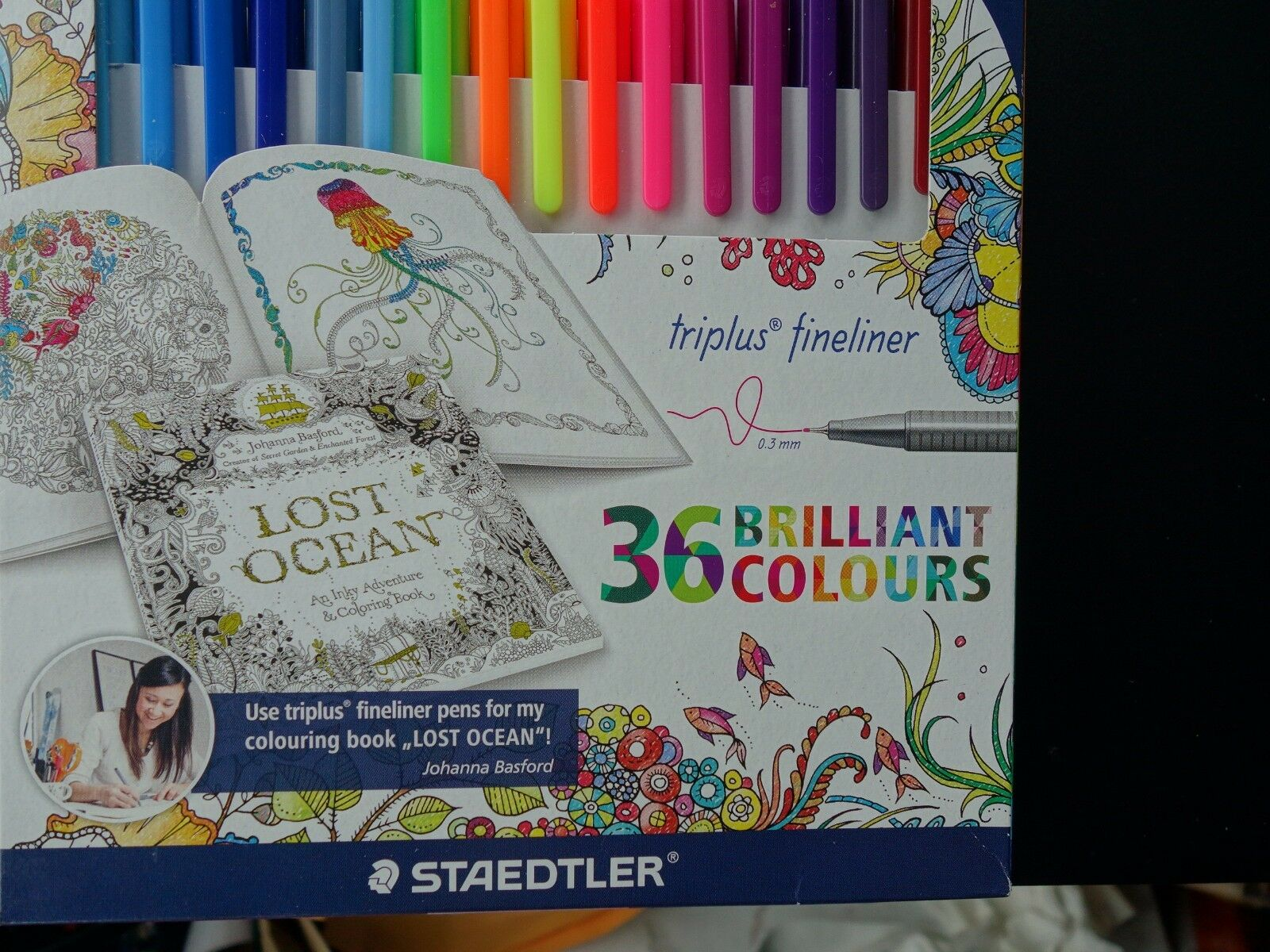 Staedtler Johanna Basford Triplus Fineliner For Adult Coloring Books
