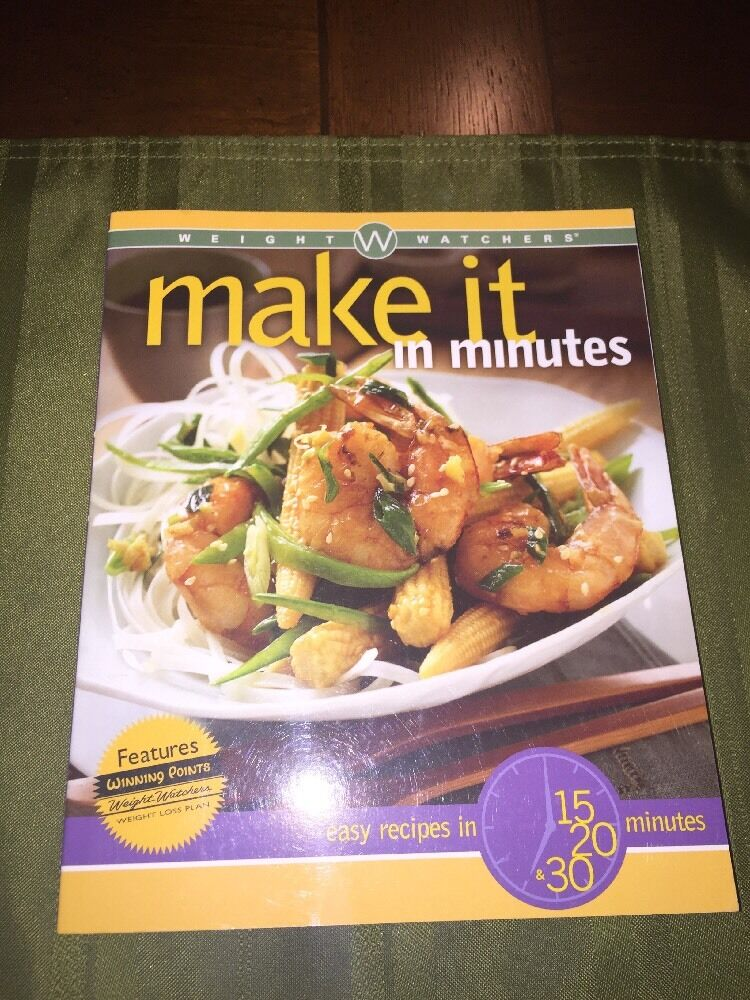 Weight watchers make it in minutes book cookbook diet cooking recipe top pre owned best pick forumfinder Choice Image