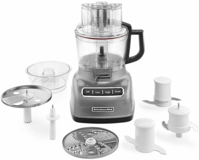 KitchenAid 9-Cup 3.1L Adjustable Exact-Slice Food Processor Silver KFP0933cu New