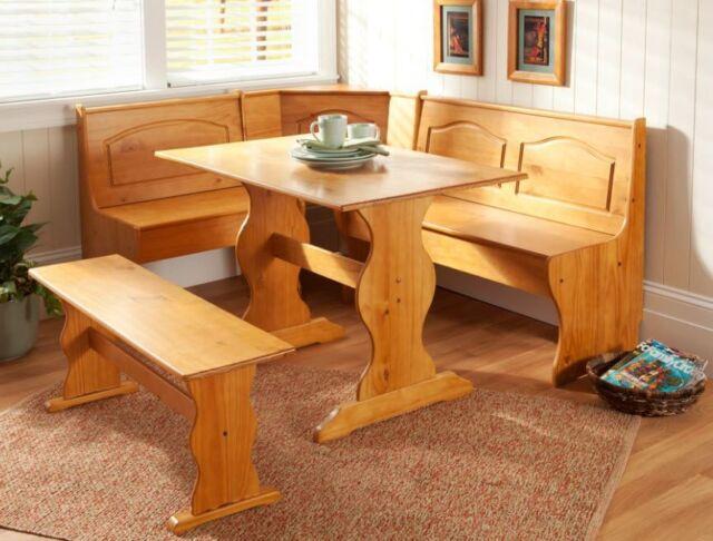 Kitchen Nook Corner Bench Table Set Booth Dining Breakfast