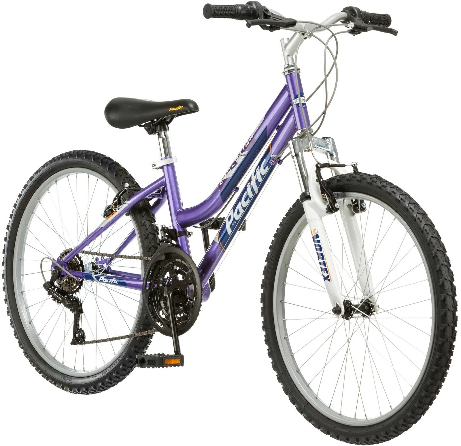 24 in Girl\'s Mountain Bike Child Pink Bicycle Steel Frame 18 Speeds ...