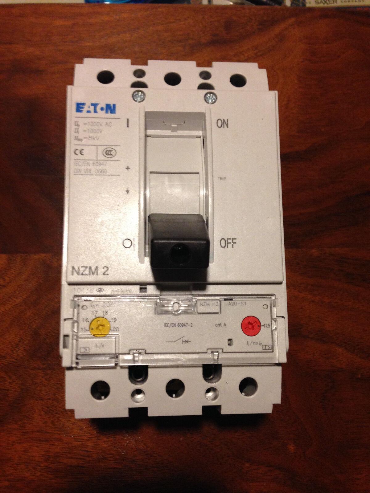 Eaton Klockner Moeller Nzmh2-a20-s1 1000v 20 Amp Circuit Breaker ...