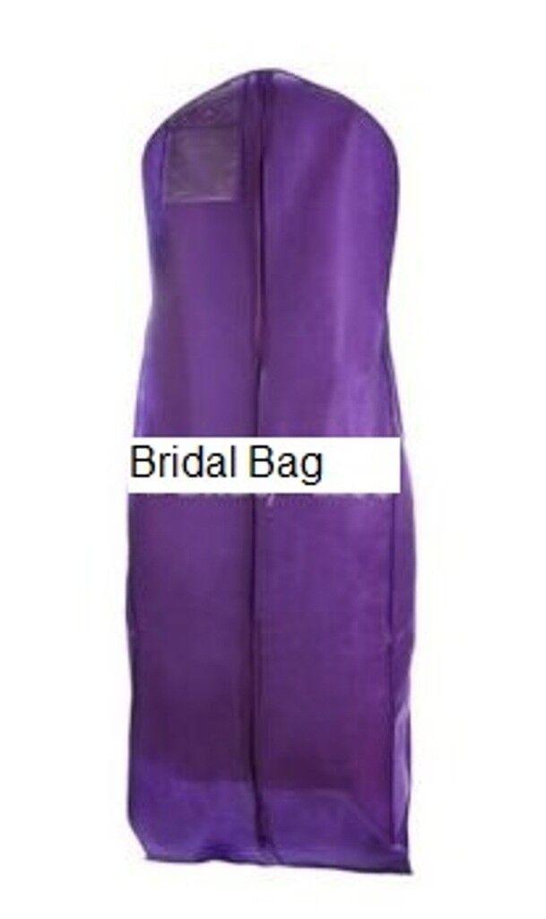 Purple Breathable Cloth Wedding Gown Dress Garment Bag | eBay