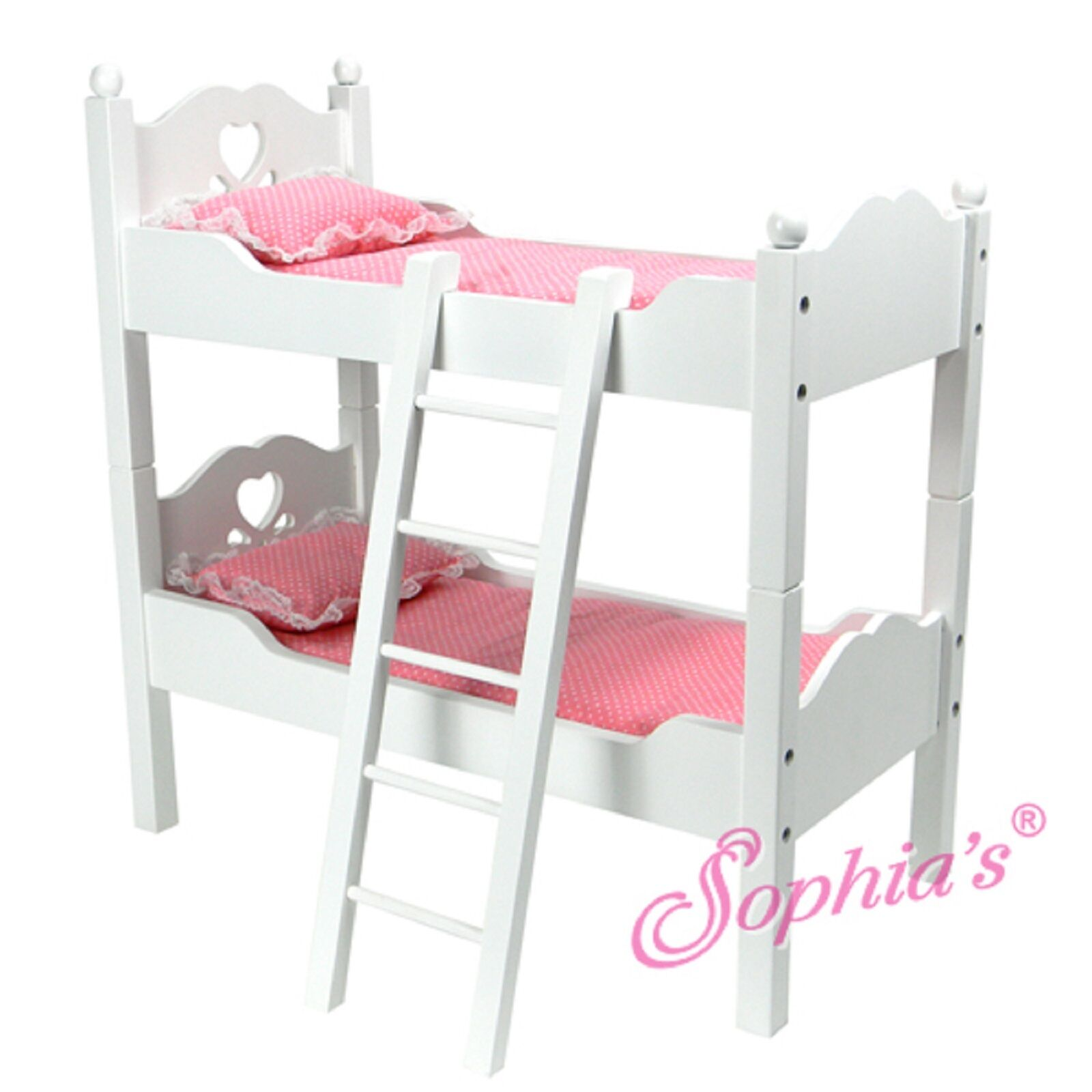 Badger Basket Doll Bunk Beds With Ladder And Storage Armoire Fits American Dolls 01856