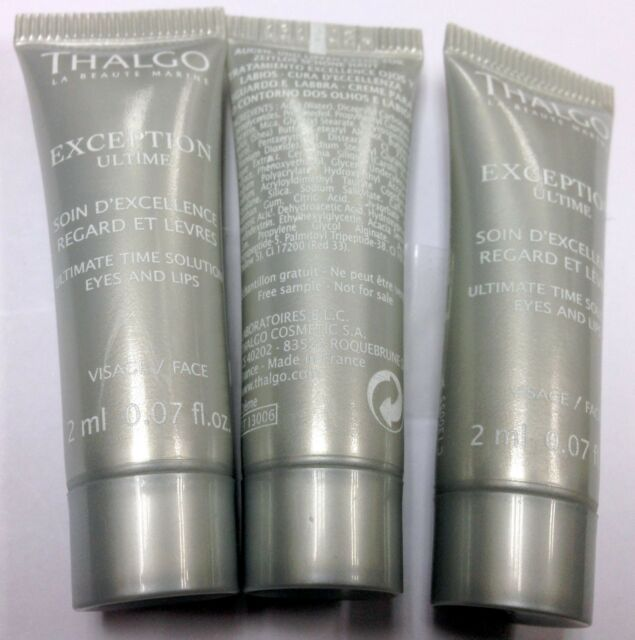Exception Ultime Ultimate Time Solution Eyes & Lips Cream 0.51oz SP Satin Polish Smoothing Cream 2.5oz
