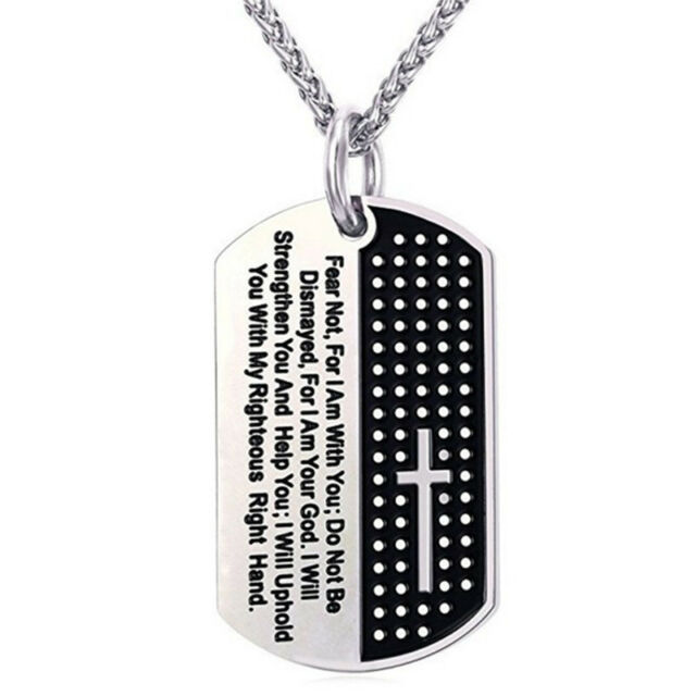 Dog tag cross necklace pendant stainless steel necklace chain dog tag cross necklace pendant stainless steel necklace chain fashion jewelry nn aloadofball Gallery