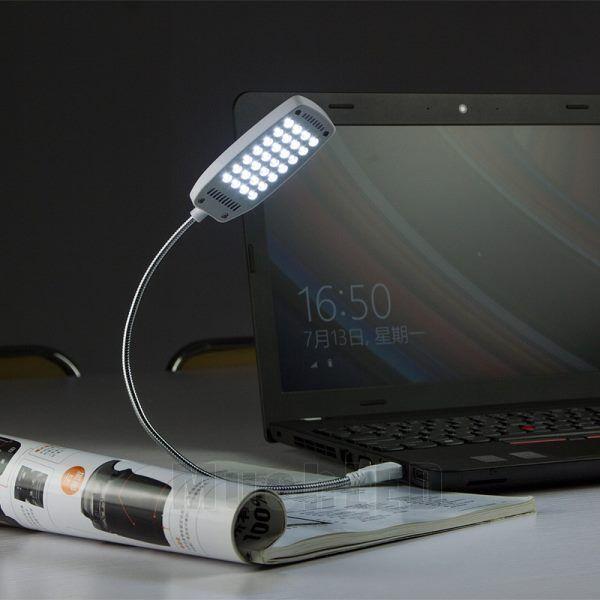 Flexible Mini Bright 28 LED USB Light for Computer Lamp Laptop PC ...
