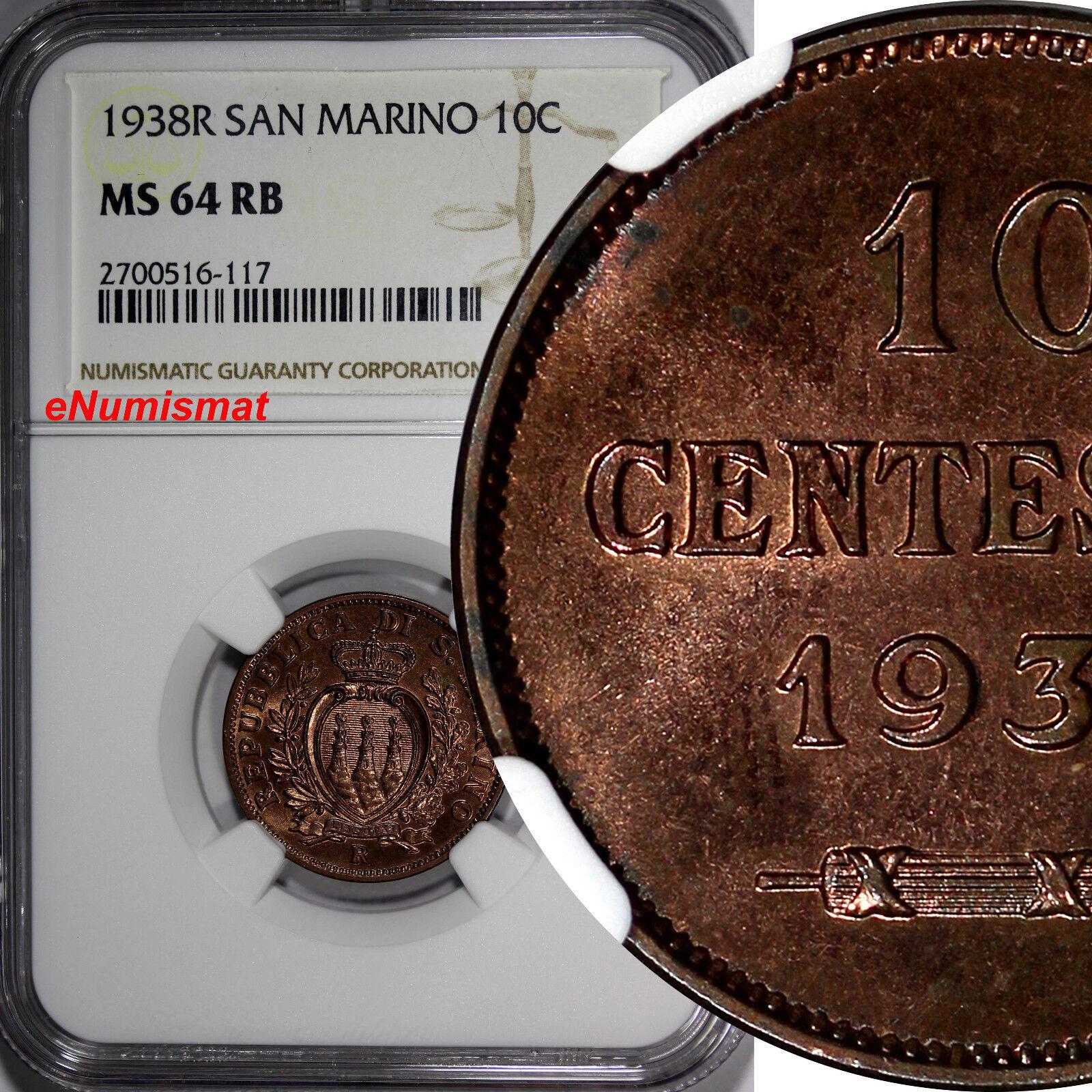 San Marino 10 Centesimi, 1938 | eBay