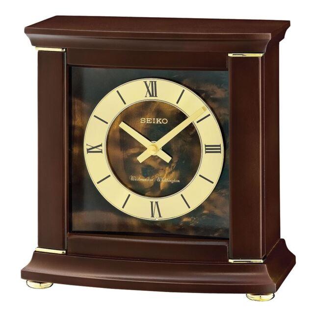 Seiko QXJ030B Westminster/Whittington Dual Chime Mantel Alarm Clock