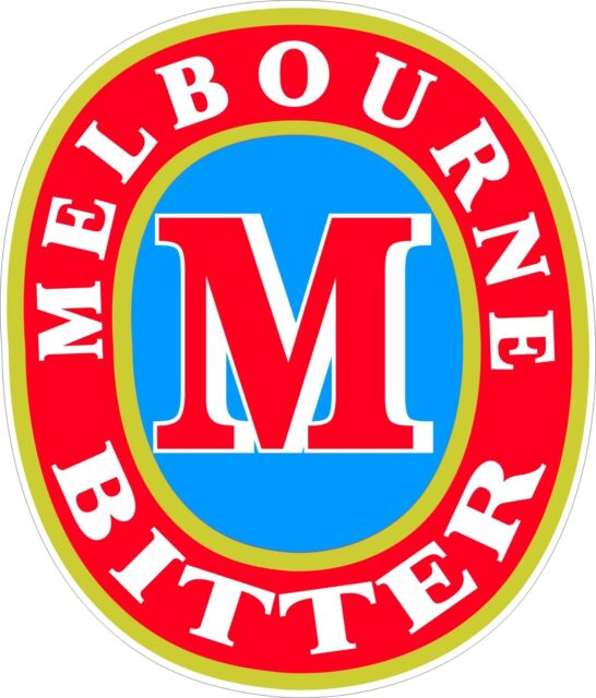 Melbourne bitter sticker 155 x 130 mm buy 2 receive 3