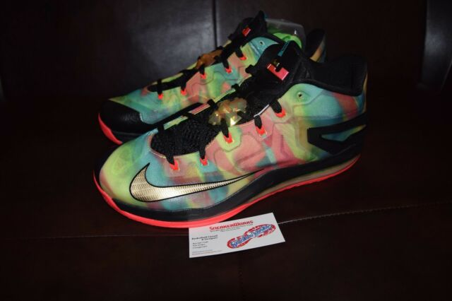 New Nike Max Lebron XI 11 Low SE Multi color Championship Pack Sz 10 695224-970